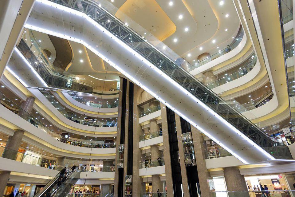Hong Kong, China. Times Square shopping centre.
