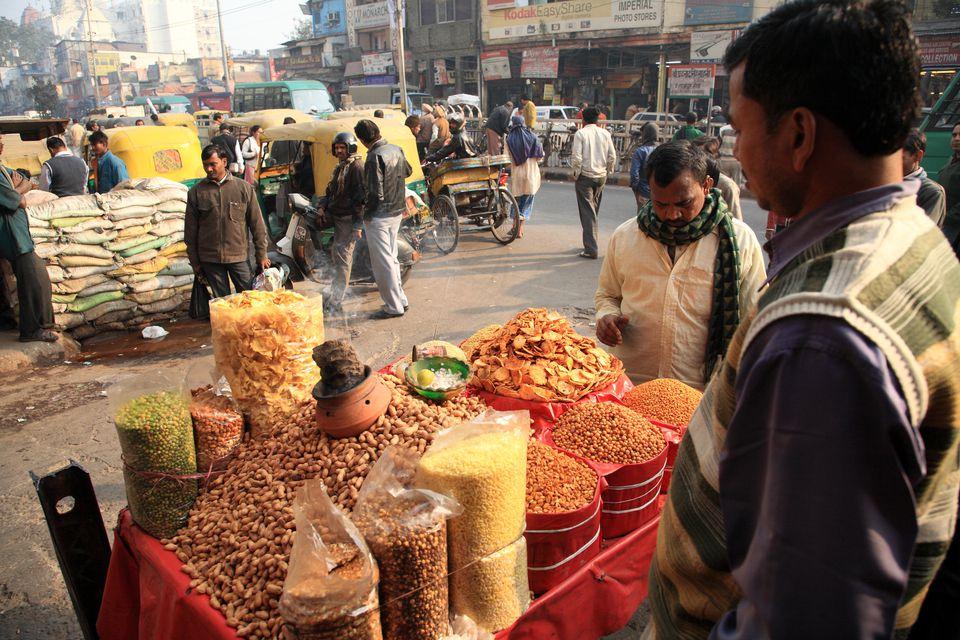 Market in Old Delhi, Chandni Chowk.