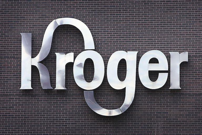 A sign identifies the Kroger Co. corporate headquarters July 15, 2008 in downtown Cincinnati, Ohio.