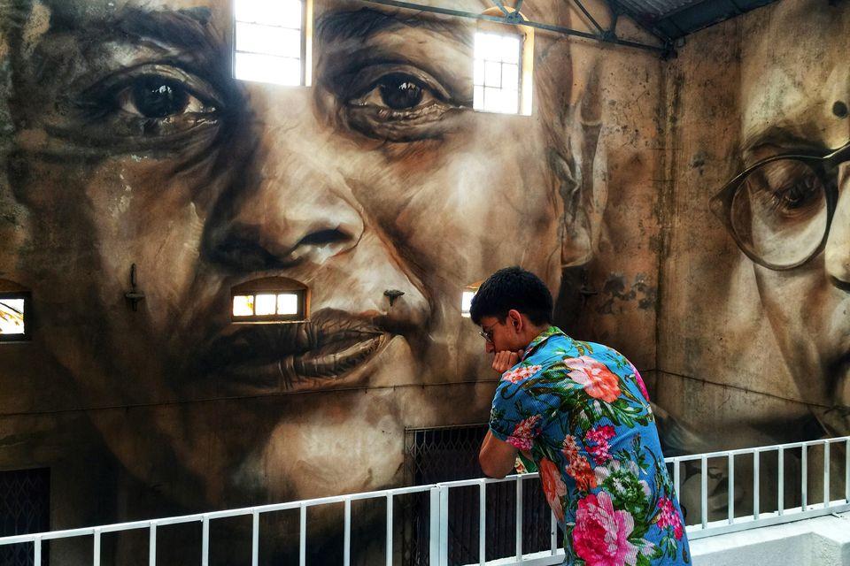 Mumbai street art festival.