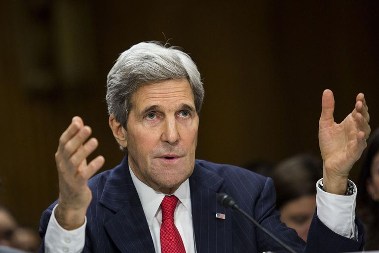 Secretary of State John Kerry Testifies To Senate Committee On International Affairs Budget For FY2015