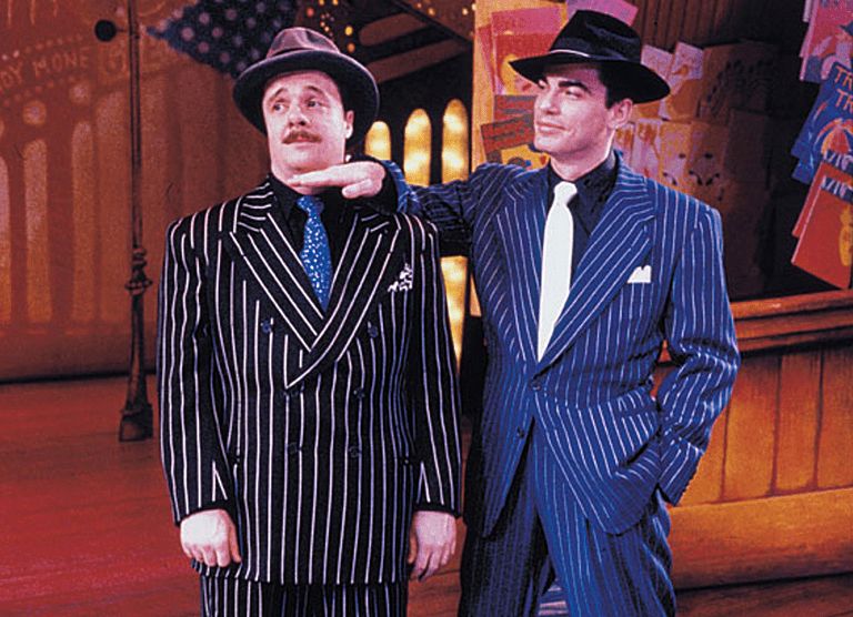 Nathan Lane and Peter Gallagher in Guys and Dolls