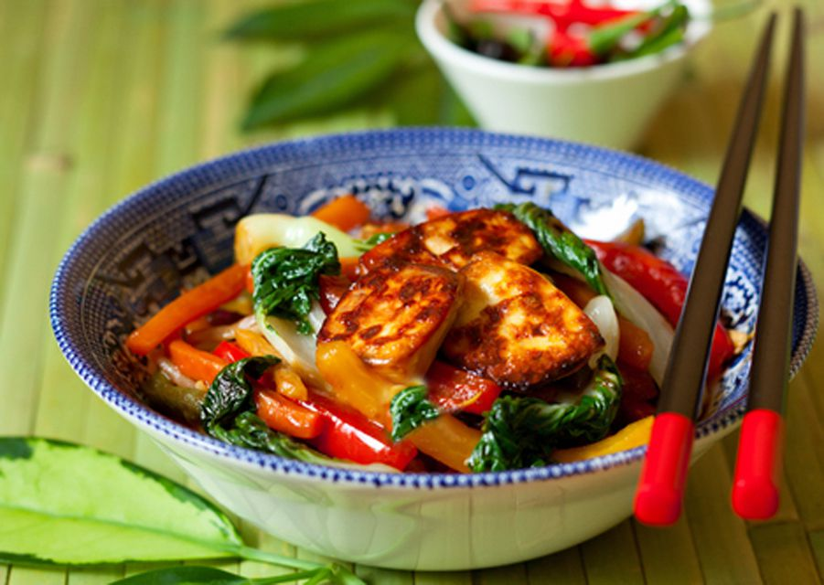 Thai Vegetable Stir-Fry with Fried Tofu