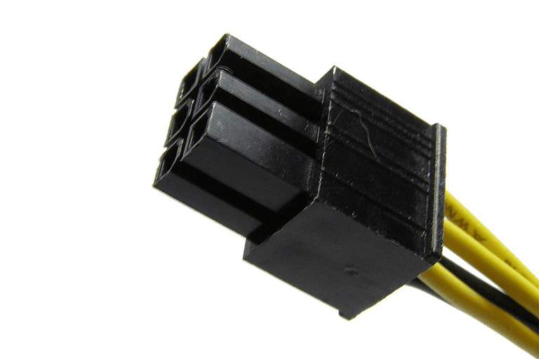Picture of a 6 Pin Motherboard Power Connector