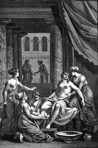 Birth of Heracles, by Jean Jacques Francois Le Barbier (1738-1826)