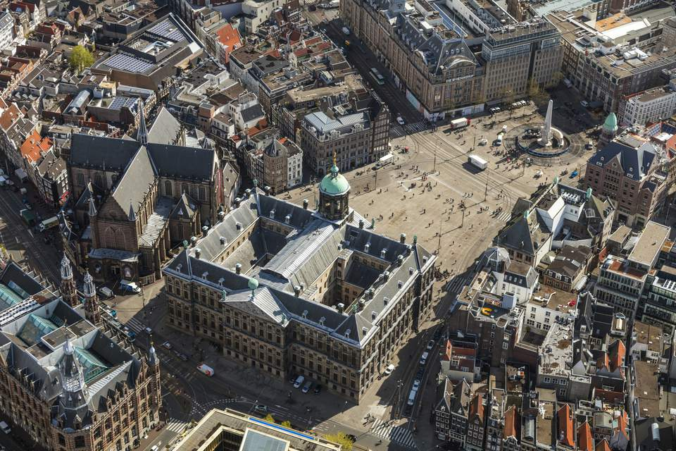 Aerial view of the Old City Centre