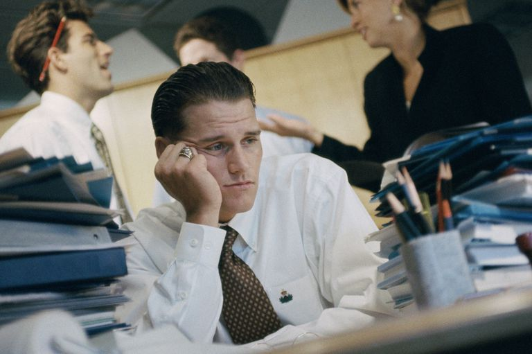 Man looks stressed out. Cam HR pros help with the number one stressor?