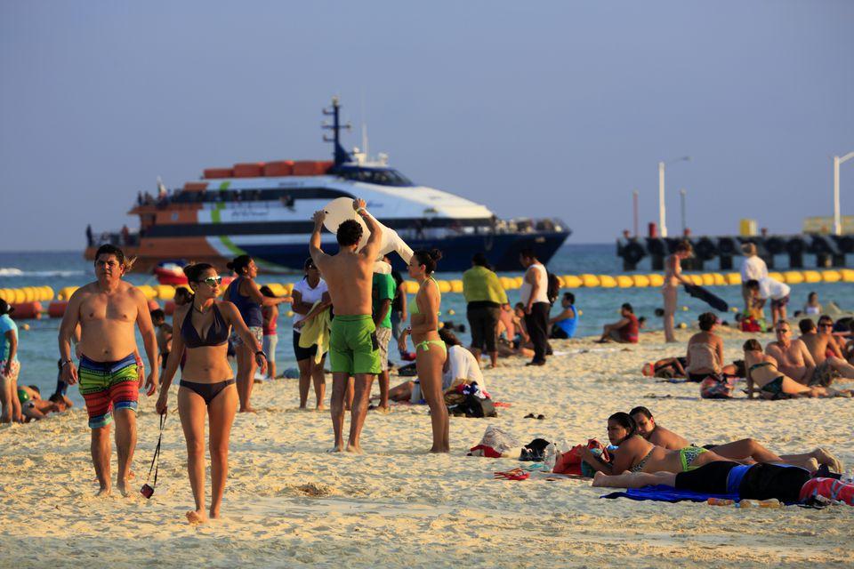 Public beach in Playa del Carmen