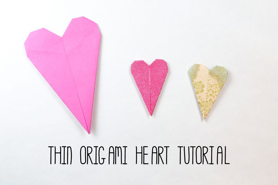 Thin Origami Heart Tutorial