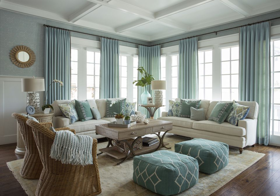 beach style living rooms. Beach style living room Blue Living Room Ideas