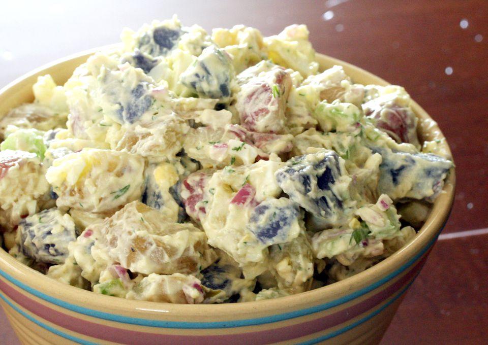 Red, White, and Blue Potato Salad Recipe