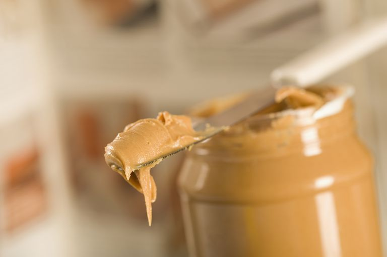 Close-up of peanut butter