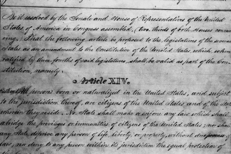Draft of the 14th Amendment