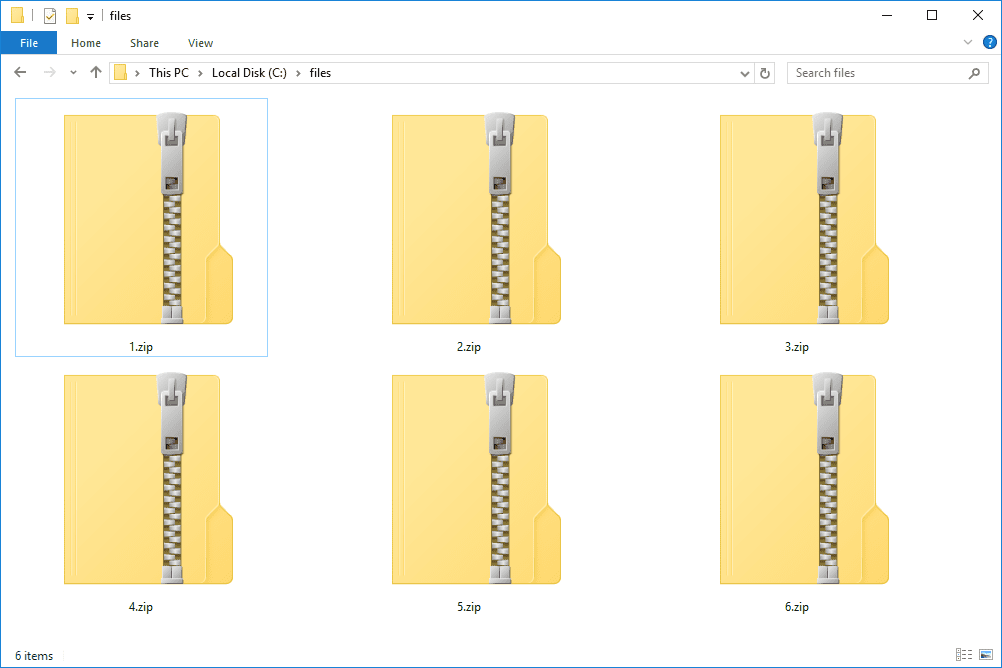 how to read zip file