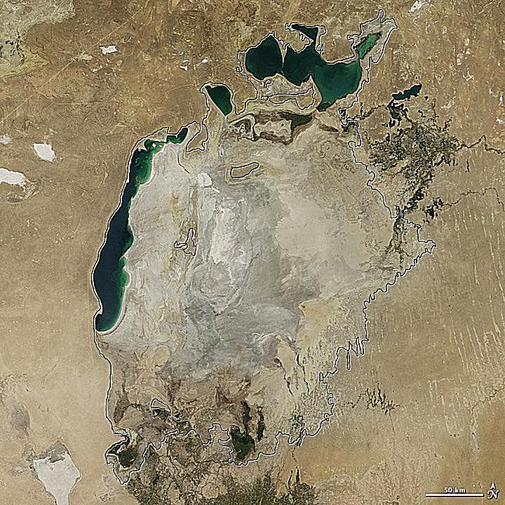 The Aral Sea in 2014