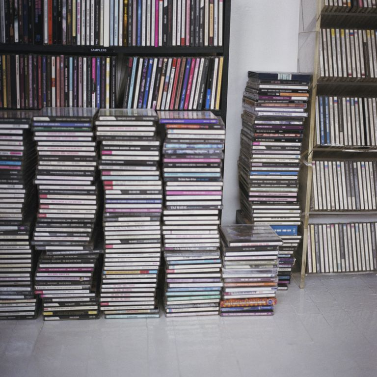 Stacks of CDs
