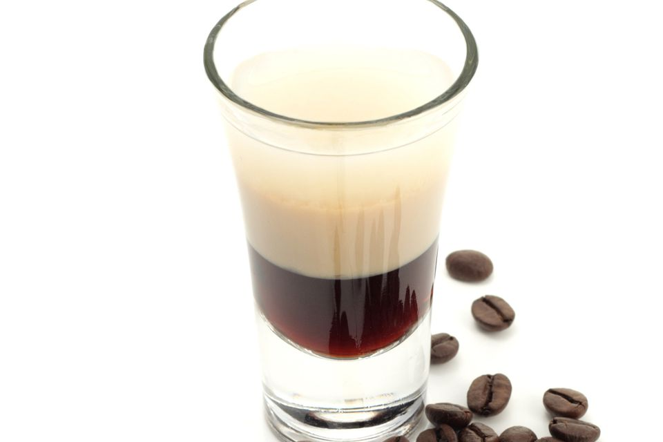 Russian Qualude Layered Shot Drink