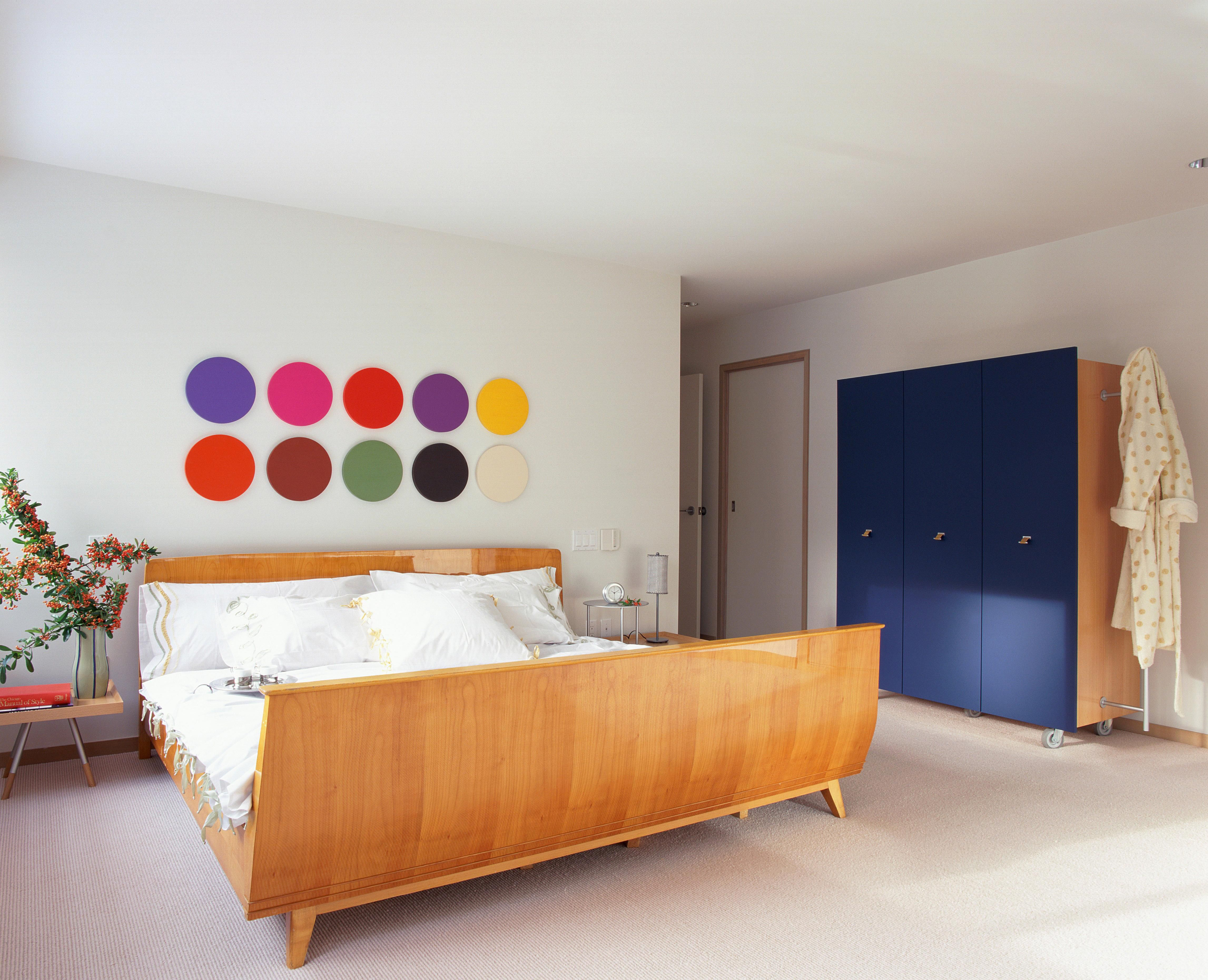 accent create bed this square bedroom panels contemporary a the pin modern to uses wood wall behind