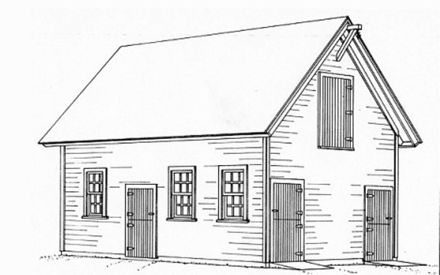 Drawing Of A Barn From Free Plan