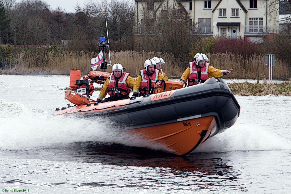 RNLI Inshore Lifeboat at Enniskillen