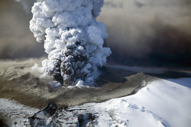 Icelandic volcano in eruption