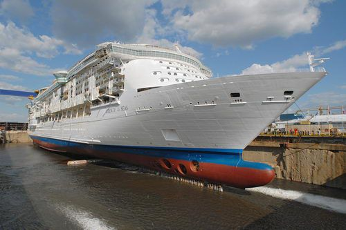 The bow of the Liberty of the Seas as she