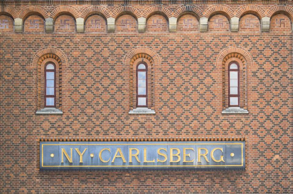 The side of the Carlsberg brewery