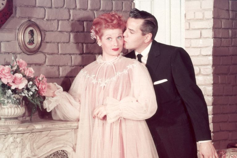 Lucille Ball and Desi Arnaz on