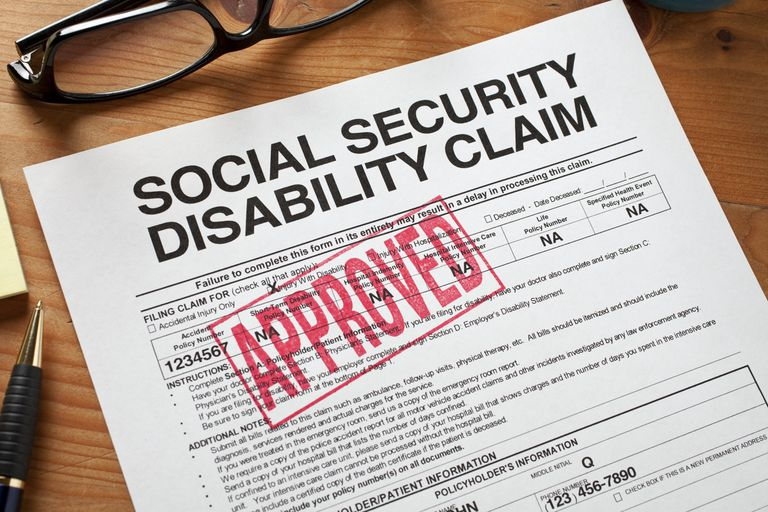 A disability application form.