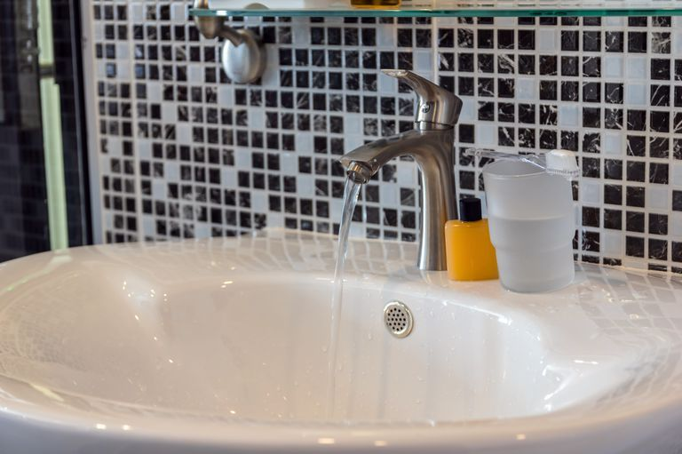 Interior Chrome faucet