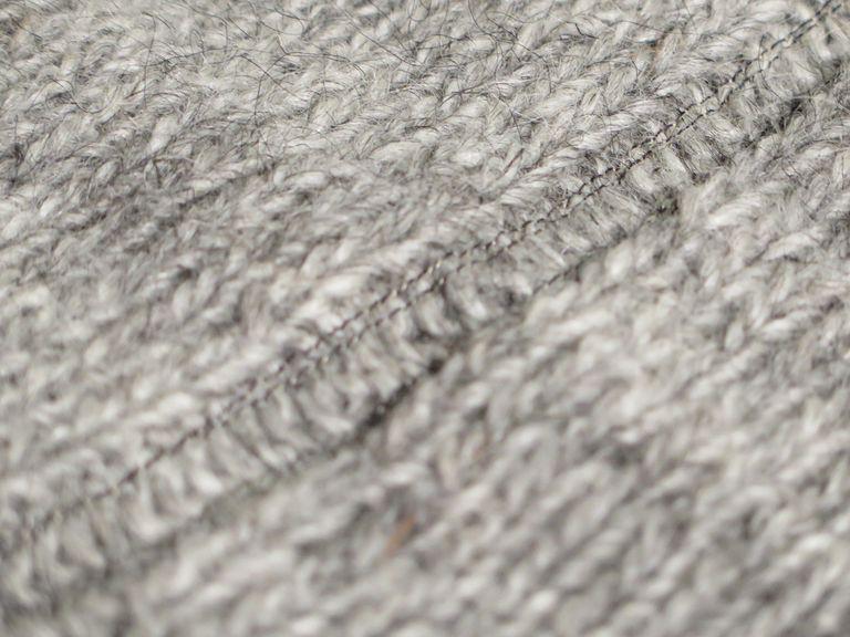 Muestra tejida con lana islandesa