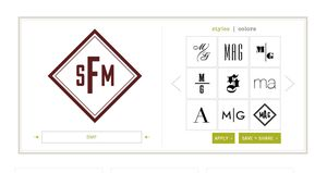 A screenshot of the Mark and Graham monogram generator