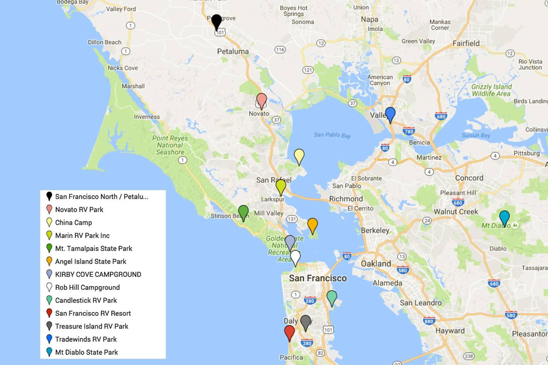 San Franciscos Popular Tourist Areas