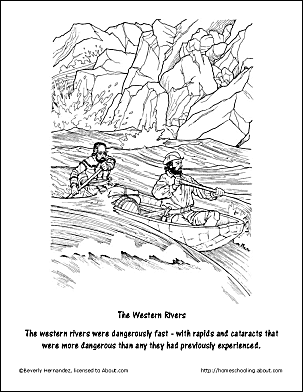 lewis and clark coloring pages - free lewis and clark worksheets and coloring pages