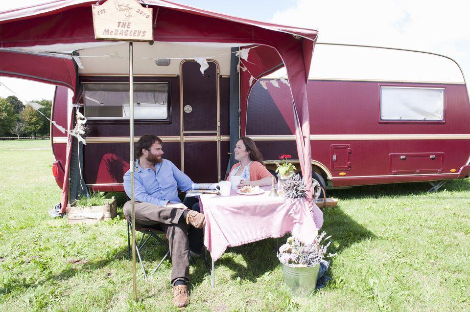 Travel trailer setup