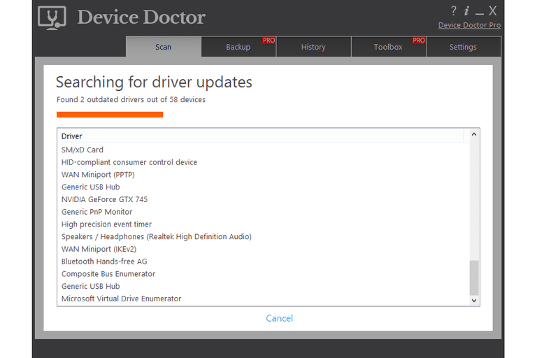 Screenshot of Device Doctor v4.0.1 in Windows