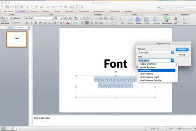 Copy a powerpoint slide master to another presentation how to replace all the fonts in your presentation toneelgroepblik Image collections