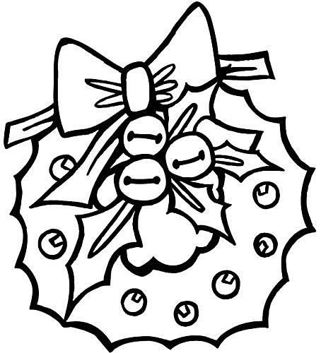 Preschool Coloring Book A Christmas Wreath