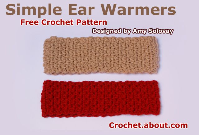 Simple Ear Warmers Free Crochet Pattern
