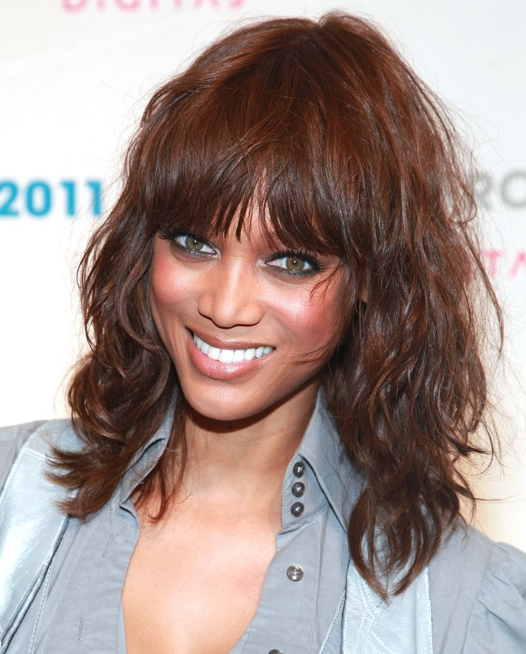 Celebrity Hairstyles Featuring Fringe Bangs images