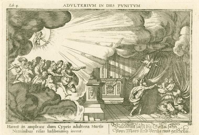 Image ID: 1623916 Adulterium in Dijs Punitum. [[Venus and Mars surprised by Vulcan]]