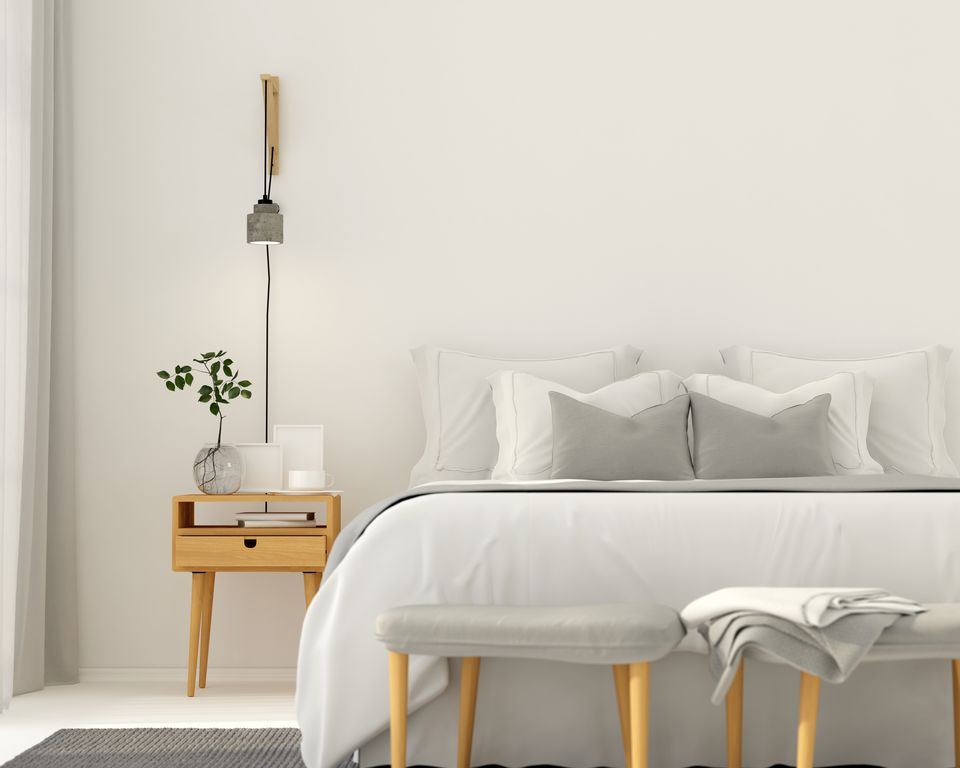 Gray bedroom color pairing ideas for What color light bulb for bedroom