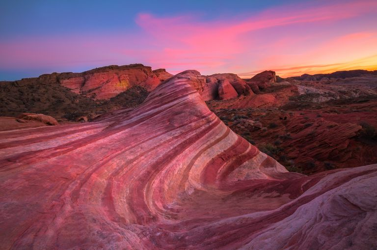 Wave Rock at sunset