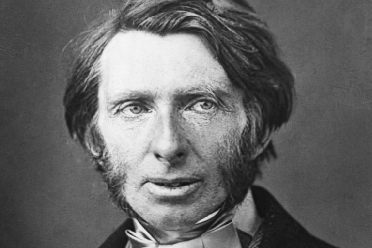 Black and White Photo of a Young British Social Critic John Ruskin
