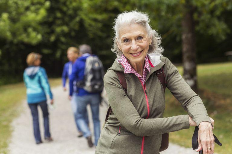 Senior Woman Enjoying a Nature Walk