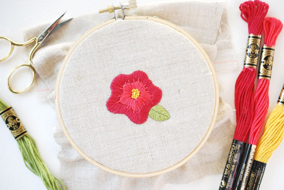 Embroidering Bold Flowers
