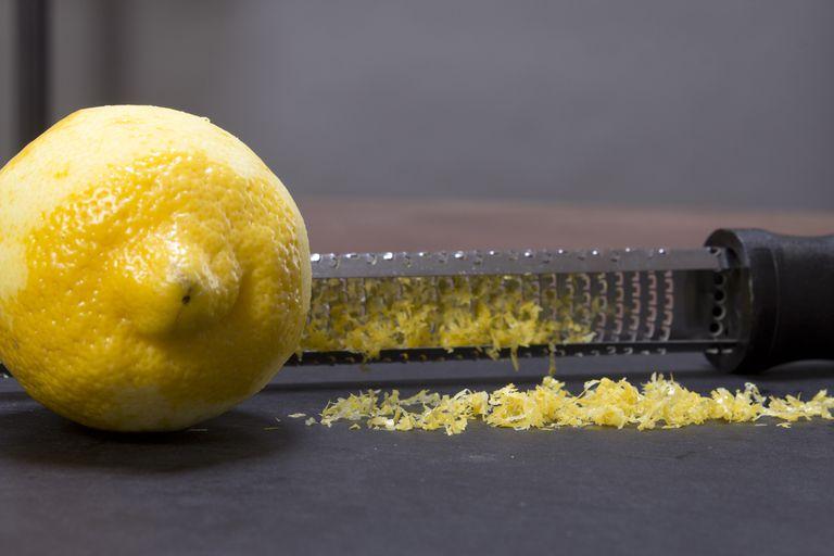 A zested lemon