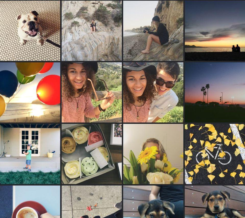 Instagram tiles