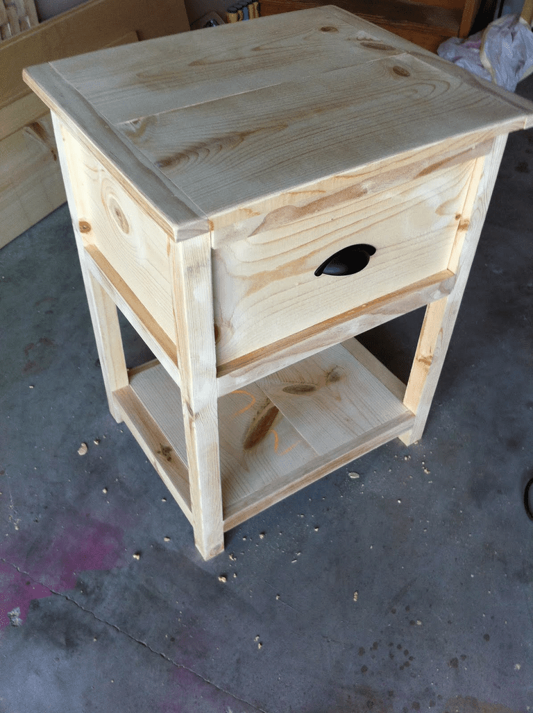 Free nightstand plans for your bedroom for Build a bedside table