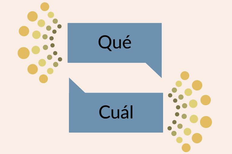 Que vs Cual
